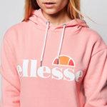 Дамска блуза с качулка Ellesse Torices - Розова